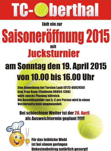 Einladung zur Saisoneröffnung 2015