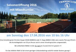 Saisoneröffnung 2016